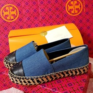 TORY BURCH ESPADRILLE SHOES 8